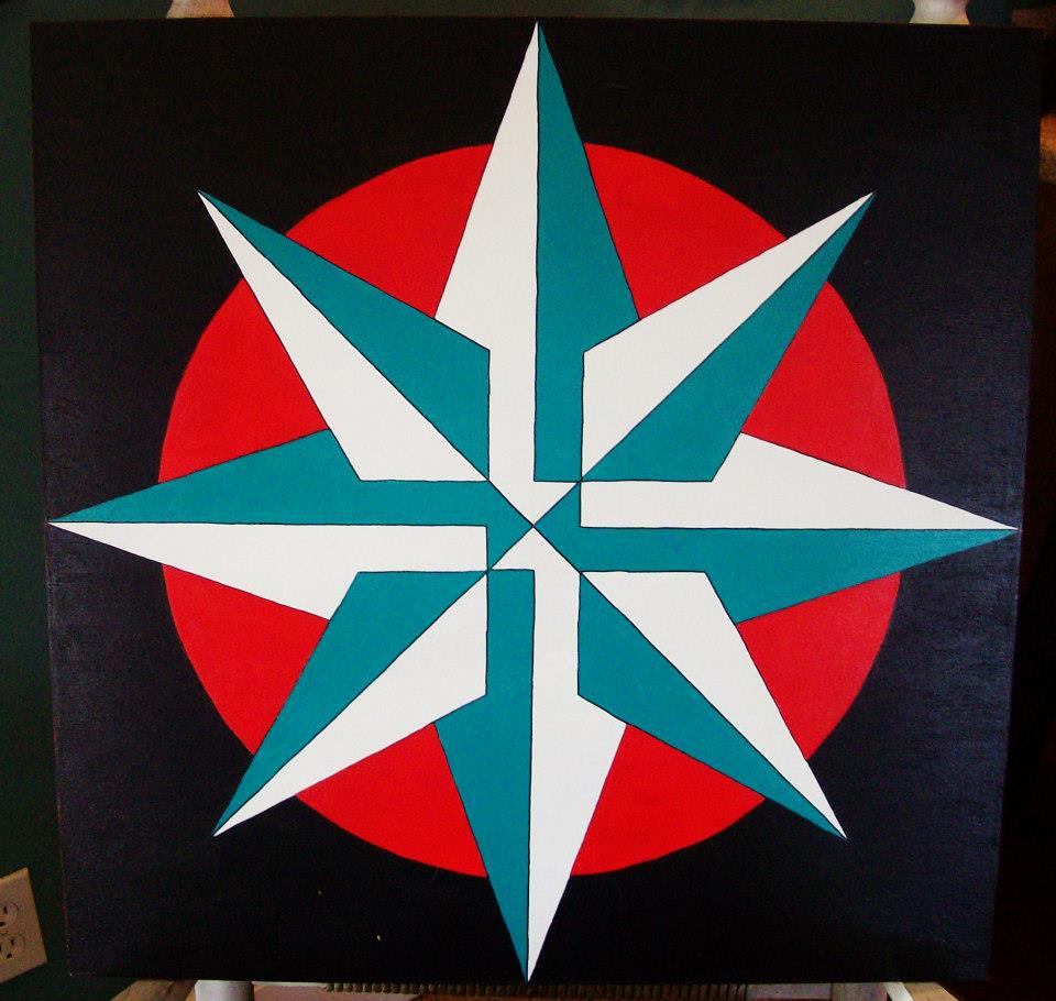 Sherry's Star - Red and Teal